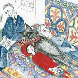 desen despre scufiita rosie la psihanaliza